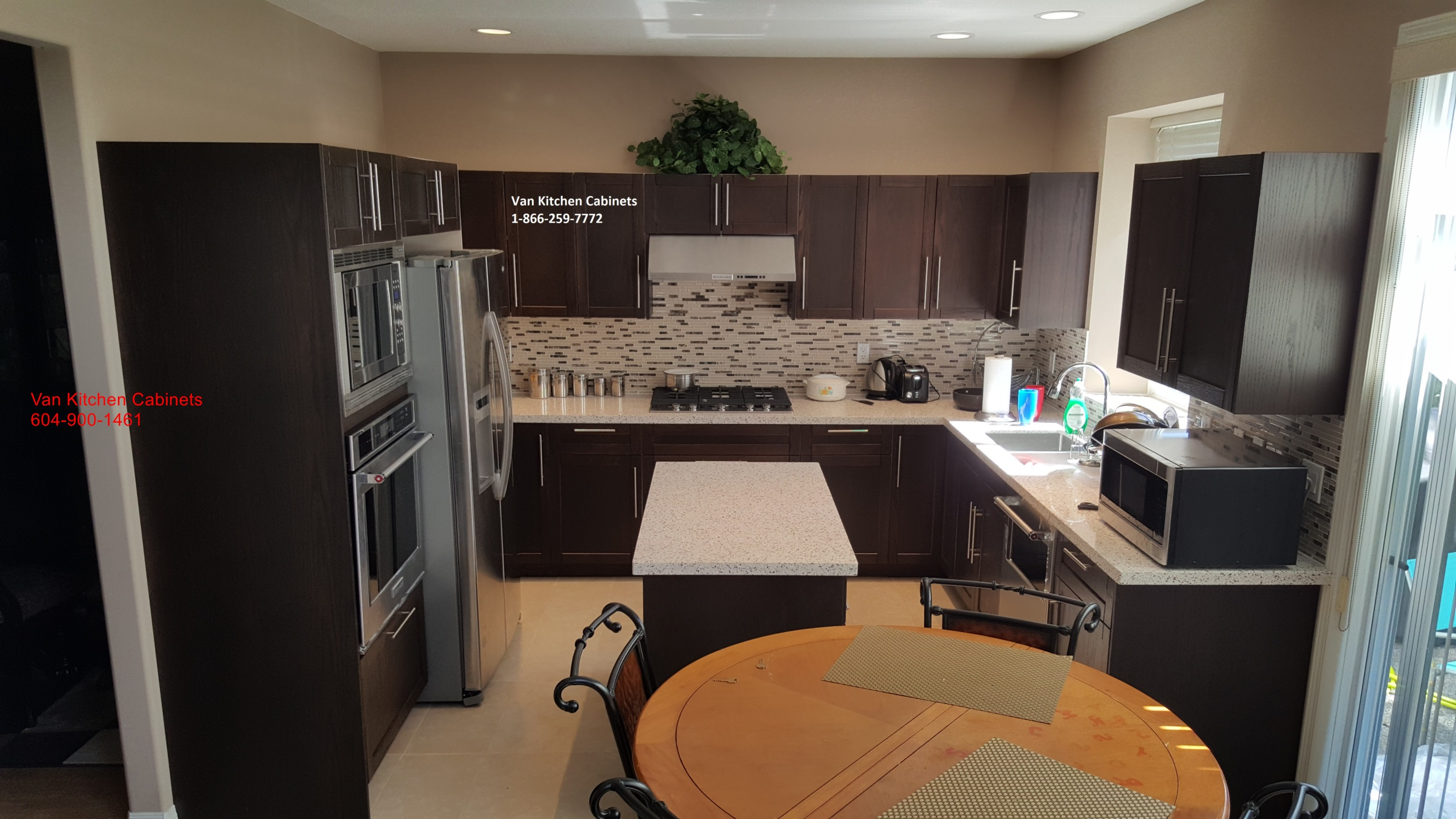 Kitchen Cabinets dark mahogany color